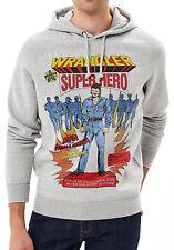WRANGLER Retro 80s Supereroe Big Logo Felpa Con Cappuccio Felpa Grigio Melange