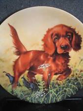 1989 Knowles Missing The Point Irish Setter Dog Field Puppies Ltd Ed Plate