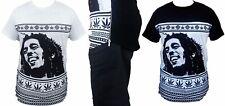 Mens Bob Marley Extended Length T-Shirt Long Tee Side Zipper Rasta Swag