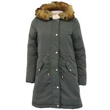 Ladies Parka Jacket Brave Soul Womens Long REVERSIBLE Fur Coat Padded Hoodie