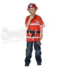 Kinder T-Shirt Feuerwehrmann Feuerwehrshirt in rot verschieden Größen wählbar
