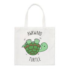 Awkward Turtle Small Tote Bag - Funny Shopper Shoulder