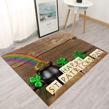 Happy St Patricks Day Wooden Blocks Gold Area Rugs Living Room Floor Mat Carpet