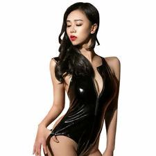1den Bodystocking Velato Brillante Trasparente Catsuit Tuta Calza Lingerie Sexy Donna: Abbigliamento Body