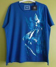 Tigi Women's Short Sleeve Atlantis Fish Print Top Shirt Size 10-24 RRP £31 Royal