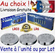Piles VARTA Alcaline LR03 LR6 INDUSTRIAL / CR2016 CR2025 CR2032 Lithium 3V BULK