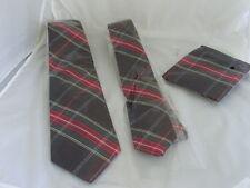 "(14G) TARTAN Black/Red/Green-Mens Tie >Classic 3.5"" OR Skinny 2"" OR Set OR Hanky"