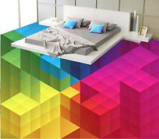 3D Quadrati Colorati 7 Pavimento Foto Wallpaper Murales Muro Stampa Decalcomania