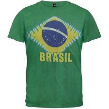 Brazilian Flag Tie Dye Adult Mens T-Shirt