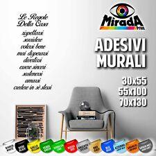 ADESIVI STICKERS MURALI WALL MURO PARETE DECORAZIONI ARREDO REGOLE CASA AMORE 3