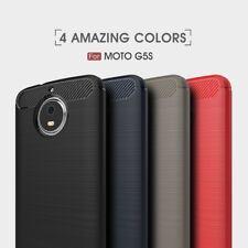 Housse etui coque silicone gel carbone pour Motorola Moto G5s + verre trempe