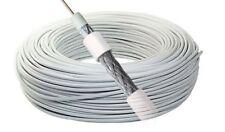 Bobina Cable Coaxial de Antena TV 25 50 100 metros, RG6U 75 OHM, TDT, SAT