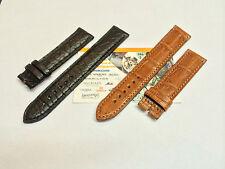 Cinturino Eberhard Extra fort solo tempo 41018/41028 cocco nero o marrone 19mm