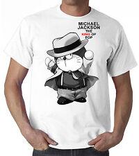 T-SHIRT DORAEMON Michael Jackson KING OF THE POP CARTOON ANNI 80 MANICA CORTA
