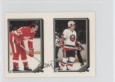 1987 O-Pee-Chee Album Stickers 243-110 Pat LaFontaine Harold Snepsts Hockey Card