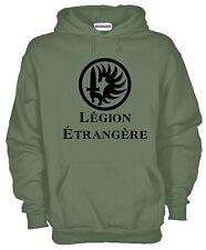 Felpa Legion Etrangere KJ822 con Cappuccio Hoodie Logo Legione Straniera