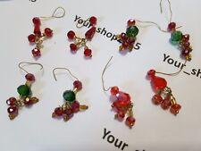 10 Cristallo Sfaccettato Stinco perle di vetro Orecchino Gioielli Accessori
