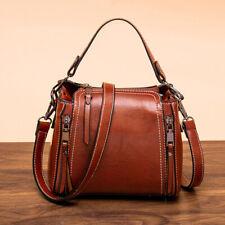 Oil Wax Leather Women's New Vintage Bucket Bag Crossbody Shoulder Bag Handbags
