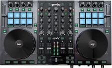 Gemini G4V - DJ Midi Controller USB Workstation 4 Kanal Audio Interface