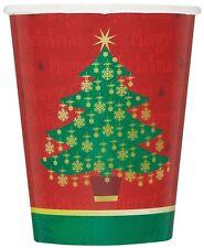 Dorato Natale Articoli per feste Bicchieri x 8 Festa Di Natale