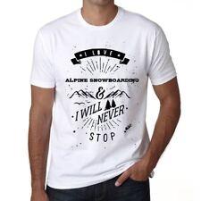 ALPINE SNOWBOARDING I love extreme sport Homme T-shirt Blanc Cadeau  00290
