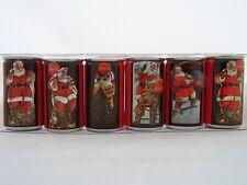 RARE Santa Coca Cola 6 pack  Miniature Can Coke Set