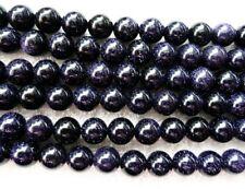 """Ukcheapest - 15"""" Azul Goldstone Piedra Arenisca Redondo 4 6 8 10 12 14 mm del grano"""