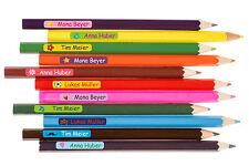 60 Namensetiketten mit Icon Sticker mit Name Klasse für Stifte Schere Lineal