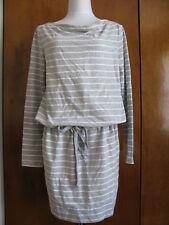 Gap Women's Gray White Striped Dress Size Medium Large Xlarge NWT