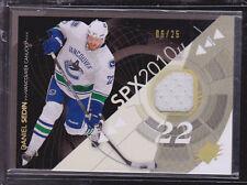 2010-11 SPx Spectrum #97 Daniel Sedin Jersey #/25