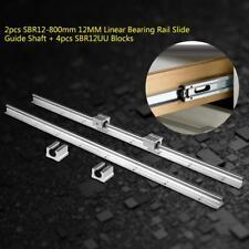 2ps SBR12 800-300mm Guía de Deslizamiento Lineal Slide Guide 4x SBR12UU Bloques