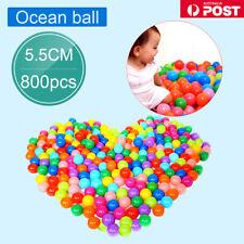 50-1600PCS Soft Plastic Ocean Balls 5.5cm Baby Kids Swim Pool Play Pit Ball Toy