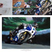 Guy Martin Isle of Man TT Triumph Daytona 675R 2015 oil painting fine art print