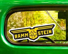 2 RAMMSTEIN BAND DECALs Sticker Bogo For Car Window Bumper Laptop Free Shipping