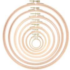 DIY Wooden Cross Stitch Frame Needlework Hoop Ring Hand Embroidery Needlecraft
