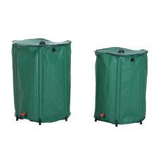 Rain Barrel Rainwater Collect Overflow Filter Saver Pvc Green 225l 300l Lawn
