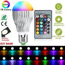 E27 Magic RGB LED Light Bulb 16 Colors Changing Home Lamp + IR Remote Control 9W