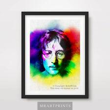 JOHN LENNON PORTRAIT Art Print Poster A4 A3 A2 Beatles Yoko Ono Painting Artwork