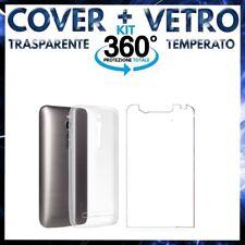 COVER + VETRO TEMPERATO ASUS ZENFONE 2 ZE550ML ZE551ML Pellicola + Custodia TPU