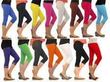Mädchen Kinder Leggings Leggins Capri 3/4 Spitze Hose kurz Baumwolle