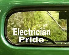 2 ELECTRICIAN PRIDE DECALS Sticker For Car Window Bumper Laptop Jeep Rv Truck