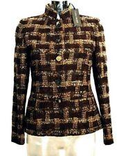 Blazer Giacca donna ANTONIO FUSCO Italy Tg. IT 38 40 Lana Bouclè modello Chanel