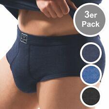 3er Pack ESGE - Herren Feinripp Jeans Unterhosen mit Eingriff - Slip Baumwolle