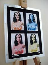 Wonder woman Lynda Carter Ltd Edition signé pop art sur TOILE