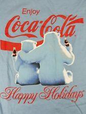 Coca-Cola Men's Polar Bear Happy Holiday T-Shirt Officially Licensed Coke