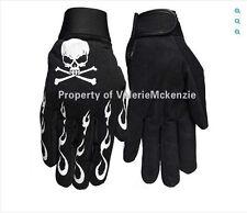 Skull Crossbones Flames Skeleton Mechanics Gloves Heavy Duty Barry Weiss L XL
