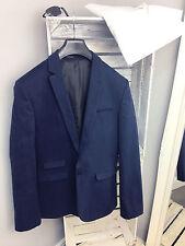 ASOS Super Skinny Blazer in Navy Cotton RRP £60 (AS-48/1)