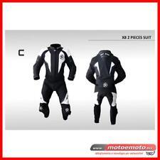 Tuta Moto Pelle Hy Fly X8 Divisibile 2 pezzi Nera Bianca Protezioni OFFERTA