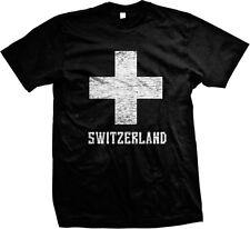 Schweiz weißes Kreuz Swiss sterben Schweiz Suisse Svizzera Svizra Herren T-Shirt