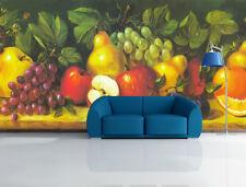 3D Apple Grapes Pears Painted 7 Wall Paper Wall Print Decal Wall AJ WALLPAPER CA